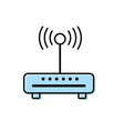 router wifi connection network technology vector image vector image