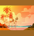 sea shore beach on sunset beautiful seaside vector image