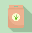 seed plant package icon flat style vector image vector image