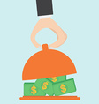 Serving money vector image
