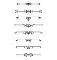 set calligraphic design elements decor vector image vector image