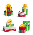 Set Collection of Colorful Celebration Christmas vector image vector image
