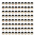 Set of 80 face emotions vector image vector image