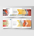 set of business square templates for tri-fold vector image vector image