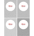 Set of Halftone Black Dots Backgrounds vector image