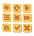 Set of wooden buttons vector image
