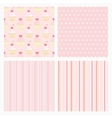 Set pink confectionery seamless background vector image vector image