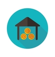 Shed flat icon with long shadow vector image vector image