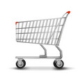 shopping cart isolated on white background vector image vector image