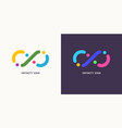 shows infinity sign modern vector image vector image