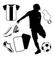 soccer design elements vector image vector image