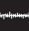 sound wave or radio wave on vector image vector image