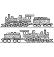 Steam locomotive coloring book for adults vector image vector image