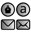 striped email symbols vector image vector image