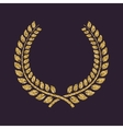 The laurel wreath icon Prize and reward honors vector image