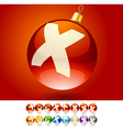 Ultimate set of alphabet font symbols on Christmas vector image