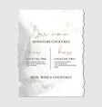 wedding grey liguid ink greeting invitation card vector image vector image