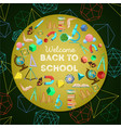 welcome back to school colorful background vector image vector image