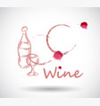 wine stain on white background vector image vector image