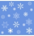 Blue snowflakes seamless background pattern vector image