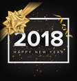 happy new year 2018 invitation christmas vector image