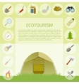 Ecotourism banner vector image