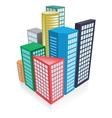 3d city concept vector image