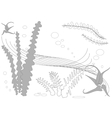 Abstract Underwater Plants and Algae Background vector image