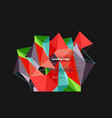 3d triangle abstract background polygonal