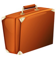 A travelling suitcase vector image vector image
