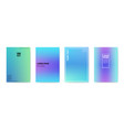 abstract creative cards placards posters set vector image