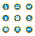accordance icons set flat style vector image vector image