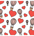 air ballon love heart valentines day pattern vector image vector image