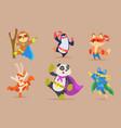 animals superhero funny in hero clothes