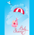 Baby shower card invitation etc stork