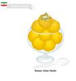 Bastani Akbar Mashti or Iranian Saffron Ice Cream vector image vector image