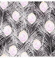 Beautiful seamless pattern with white vector image vector image