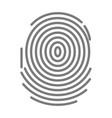 black dactylogram person identification mark for vector image vector image