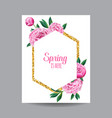 blooming spring and summer floral design vector image