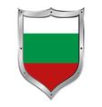 Bulgaria flag button vector image vector image