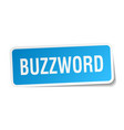 buzzword square sticker on white vector image vector image