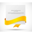Card with orange ribbon vector image vector image