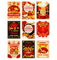 chinese new year traditional greeting cards vector image vector image