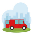 delivery service van isolated icon vector image