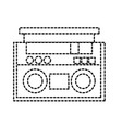dotted shape radio object technology to listen vector image vector image