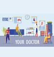 family medicine clinic various specialization vector image vector image