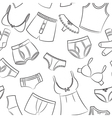 Female And Male Underwear Doodle Pattern vector image vector image