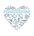 fishkeeping minimal concept in vector image vector image