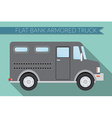 flat design city transportation bank armored truck vector image vector image