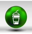 Fresh soda drink with straw fast food vector image